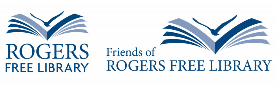 Rogers Free Library and Friends of the Rogers Free Library logos